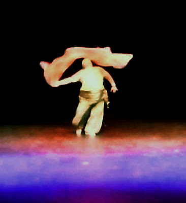 dancer with veil swirling overhead