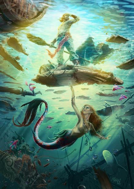 Drawing Mermaid Tale