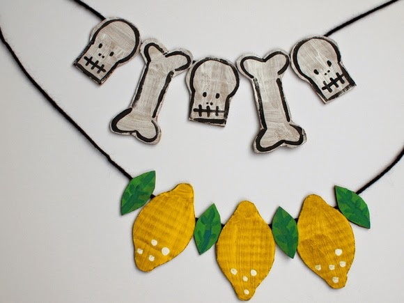 DIY Cardboard bead necklaces or bunting!