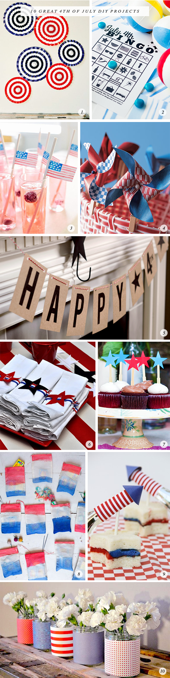 10 Great 4th of July DIY Projects // Bubby and Bean
