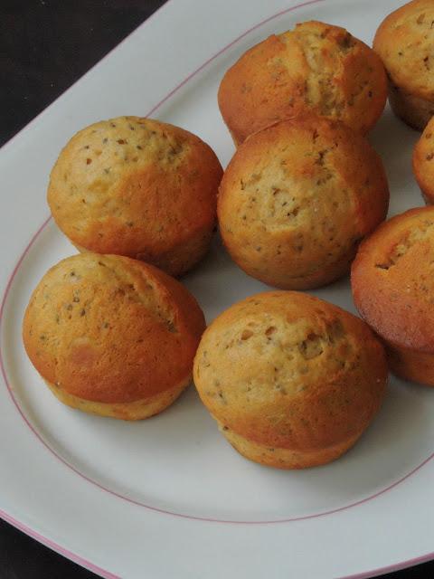 Chia seeds, Banana Spelt Butterless Muffins