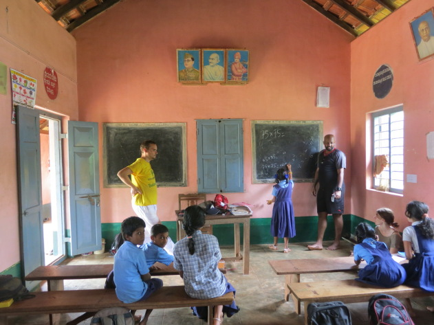Teaching mathematics to kids in a village school