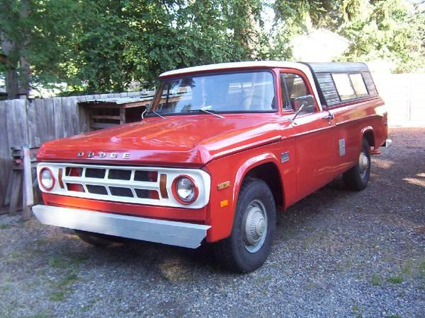 1971 Dodge D200 Camper Special
