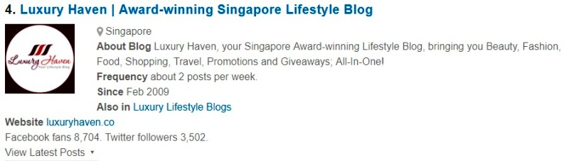 luxury haven singapore top lifestyle bloggers to follow