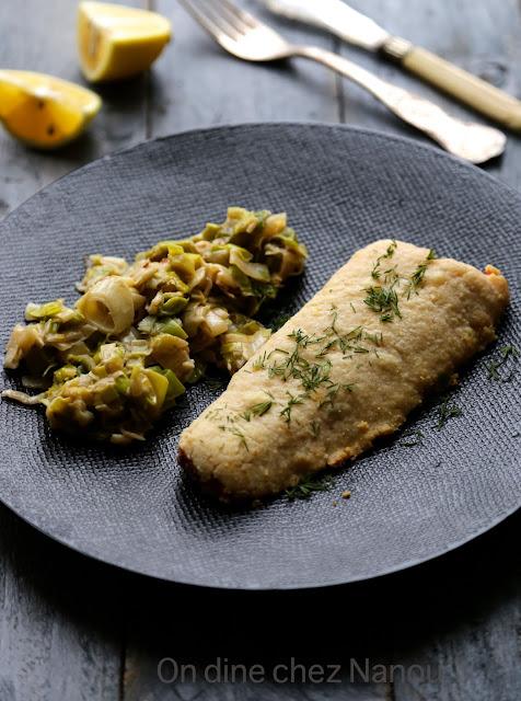 saumon , crumble , parmesan , recettes poisson facile