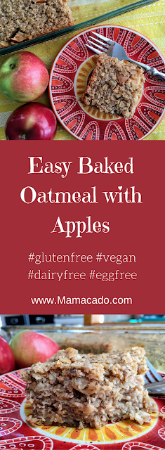 Dairyfree Baked Oatmeal with Apples