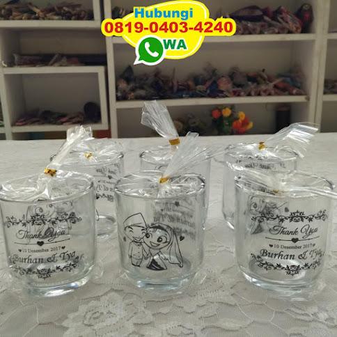 souvenir gelas sablon surabaya 50603