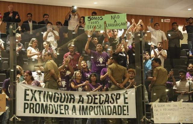 Justiça dá prazo de 72 horas para governo se pronunciar sobre extinção da Decasp
