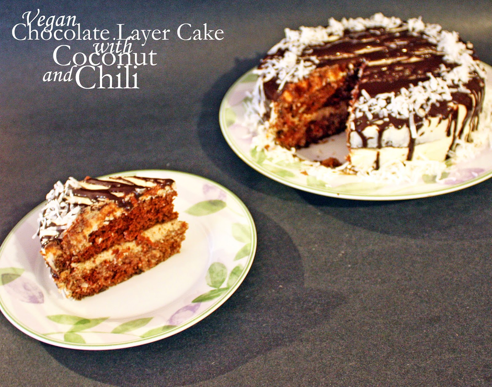 Vegan Chocolate Layer Cake With Chili And Coconut How To