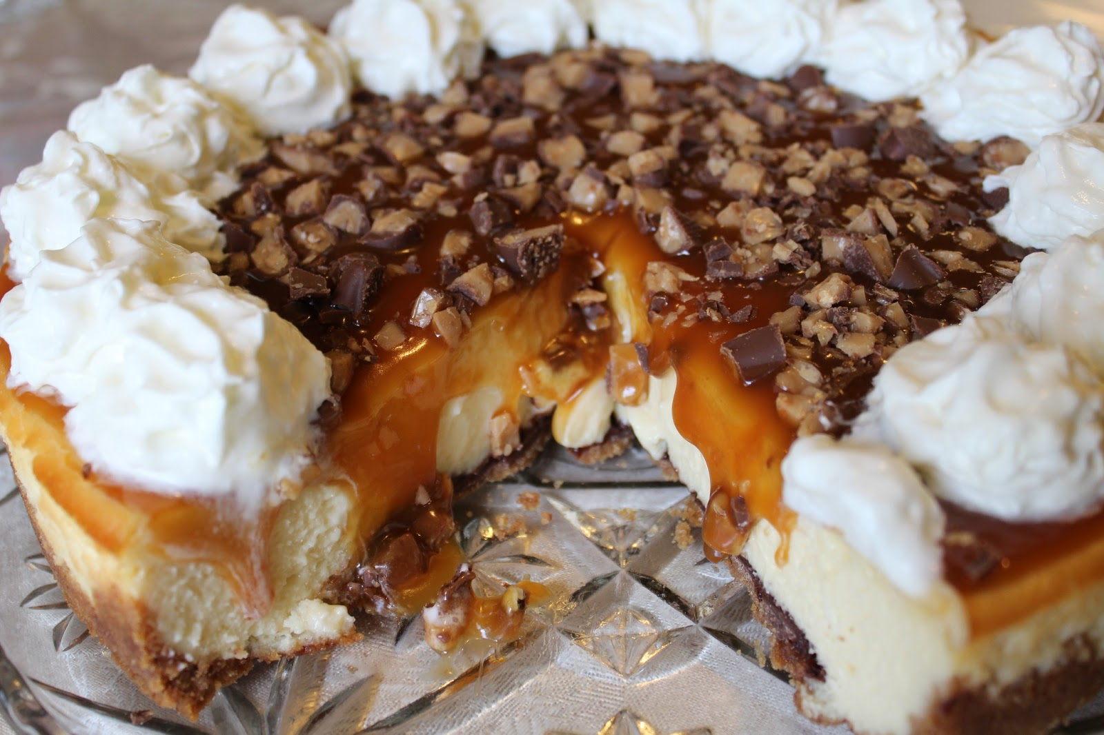 Blog As You Bake Caramel Toffee Crunch Cheesecake