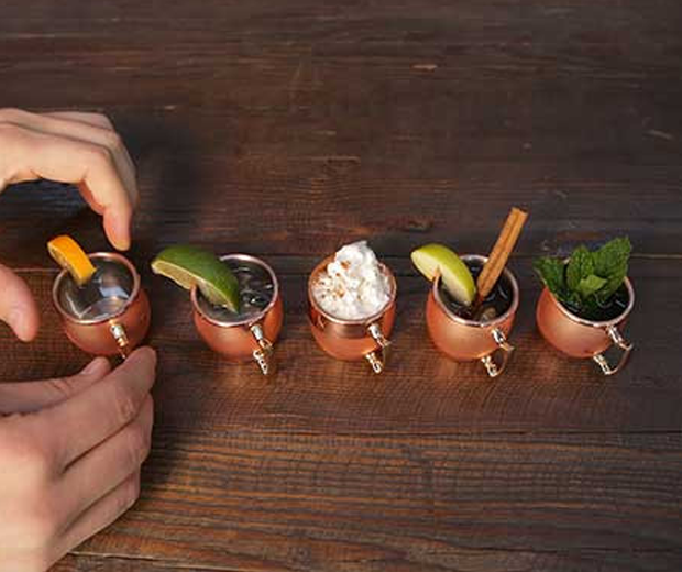 Mini Moscow Mule Shot Glasses