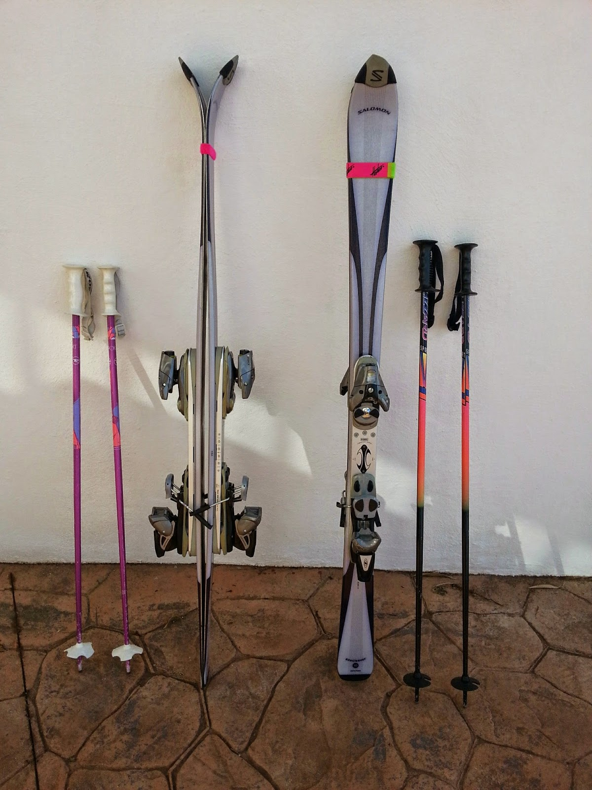 Digame for sale two pairs of salomon axe cleaver skis