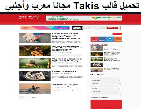 تحميل قالب Takis مجانا معرب وأجنبي جاهز