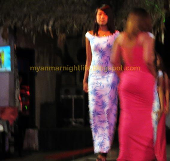Burmese nightclub ladies