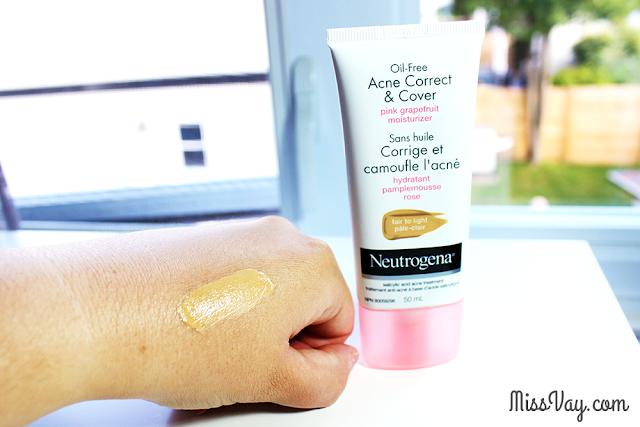 Neutrogena Hydratant Corrige et camoufle l'acné au pamplemousse rose