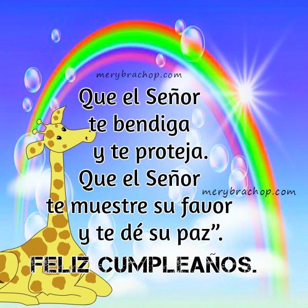 Frases de cumpleaños con versículos bíblicos, tarjetas de cumple con versos de la Biblia, imágenes cristianas para cumple por Mery Bracho.