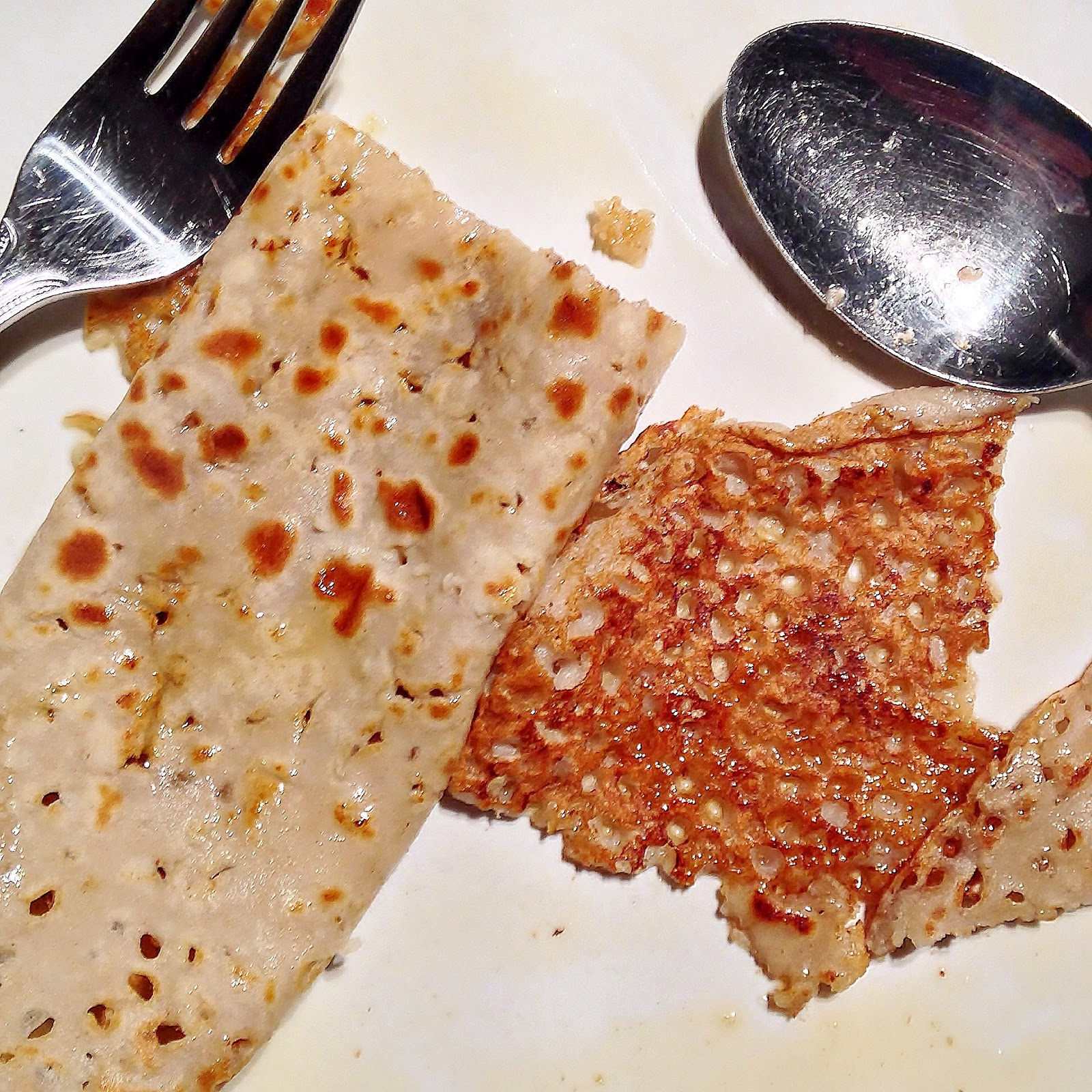 Buckwheat crepes with maple syrup