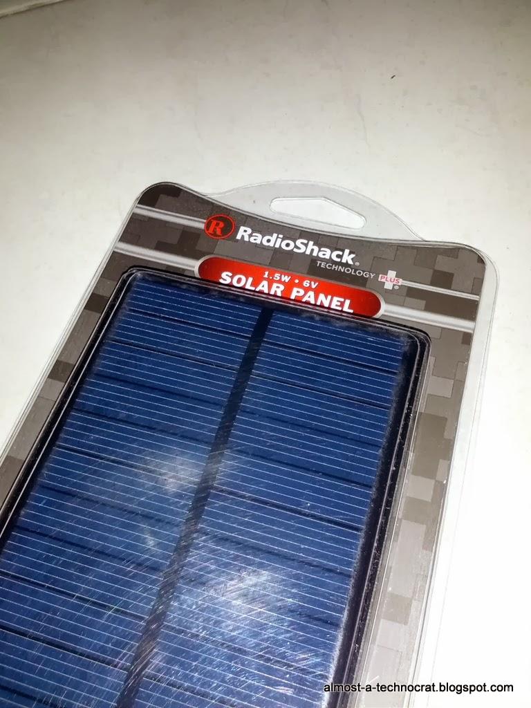 RadioShack 6V solar panel
