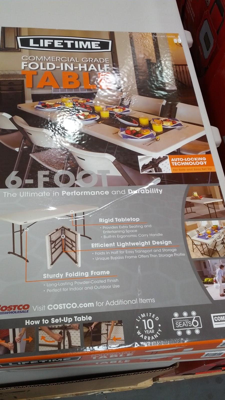 Lifetime Commercial Grade 6 Ft Fold In Half Table Model