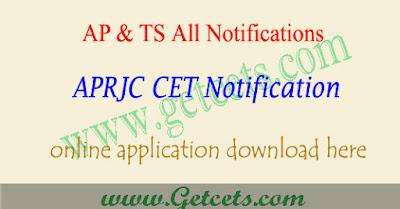 APRJC 2020 notification, aprjc application form 2020