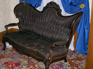 1840s sofa, Edwards House, Springfield, IL.
