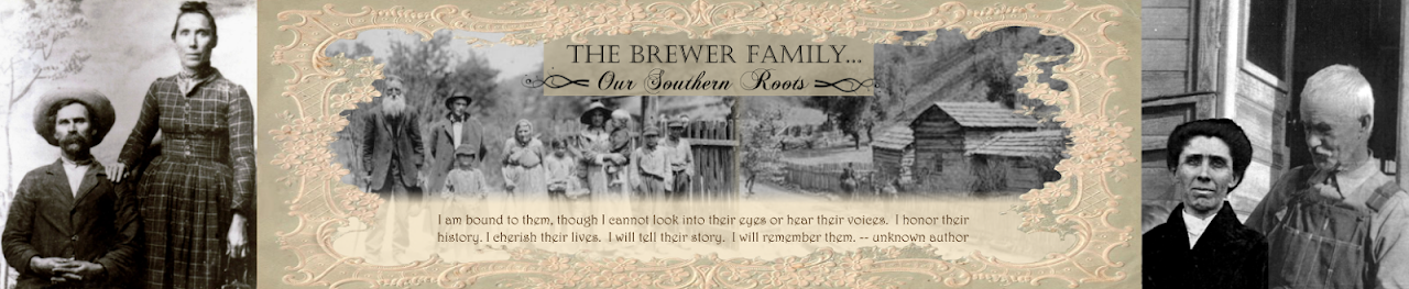 The Brewer Family... Our Southern Roots