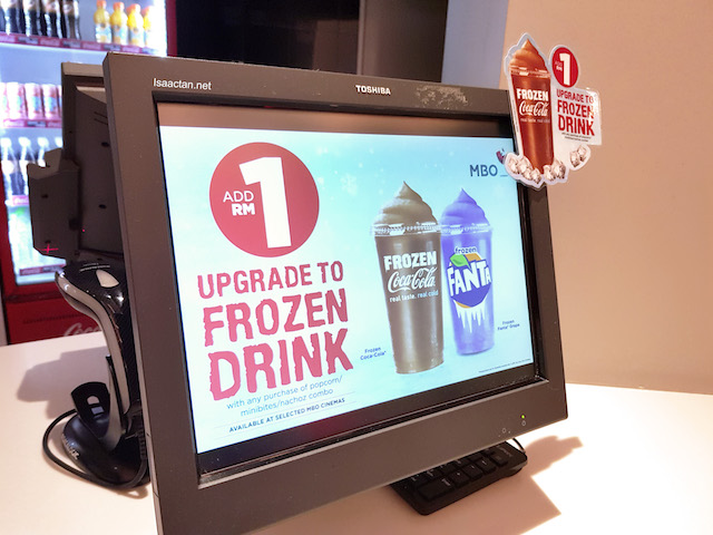 RM1 to upgrade to frozen drink