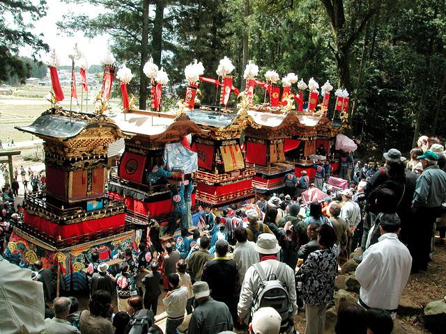 Kutami Matsuri (dolls on float parade), Yaotsu Town, Gifu