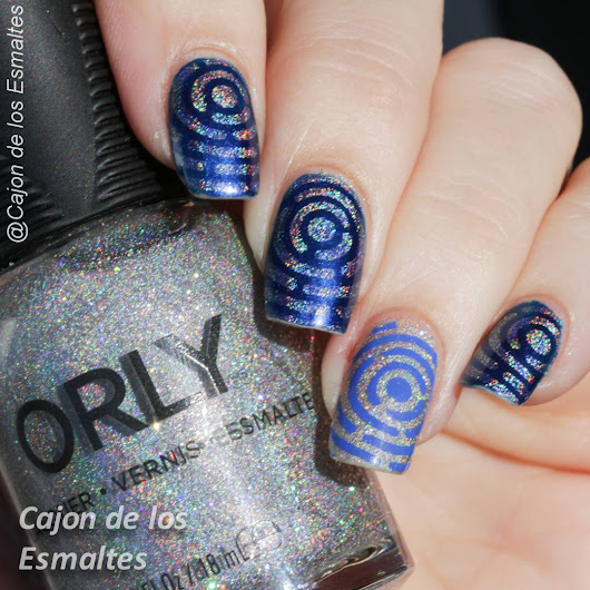 Orly Mirrorball - Estampado laberinto placa Gogo Only