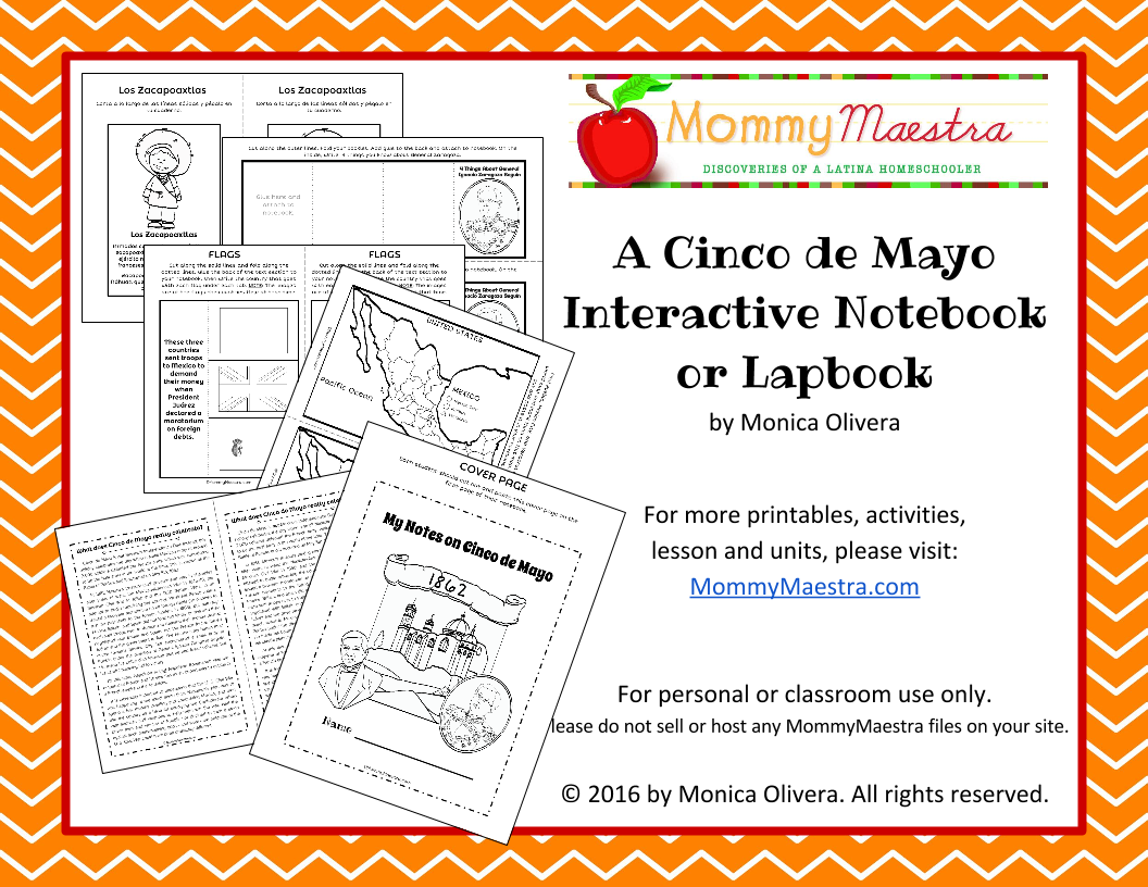 Mommy Maestra: Cinco de Mayo Interactive Notebook or Lapbook