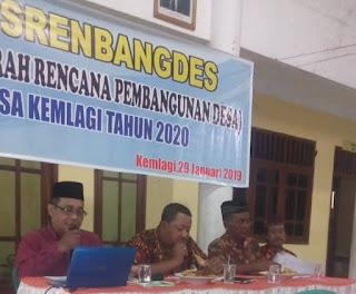 Musrenbangdesa Desa Kemlagi Tahun 2020