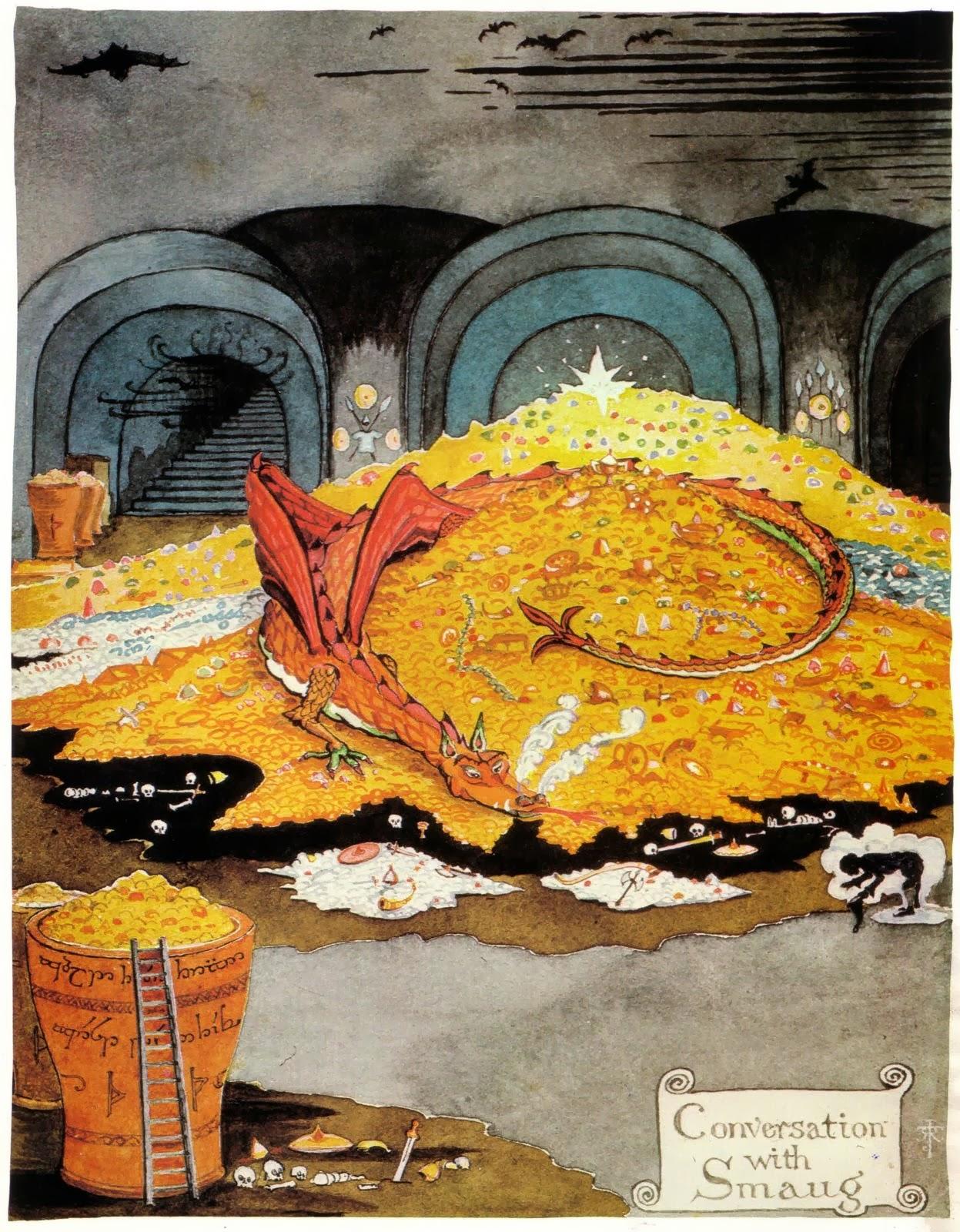 Risultati immagini per tolkien illustrazioni lo hobbit