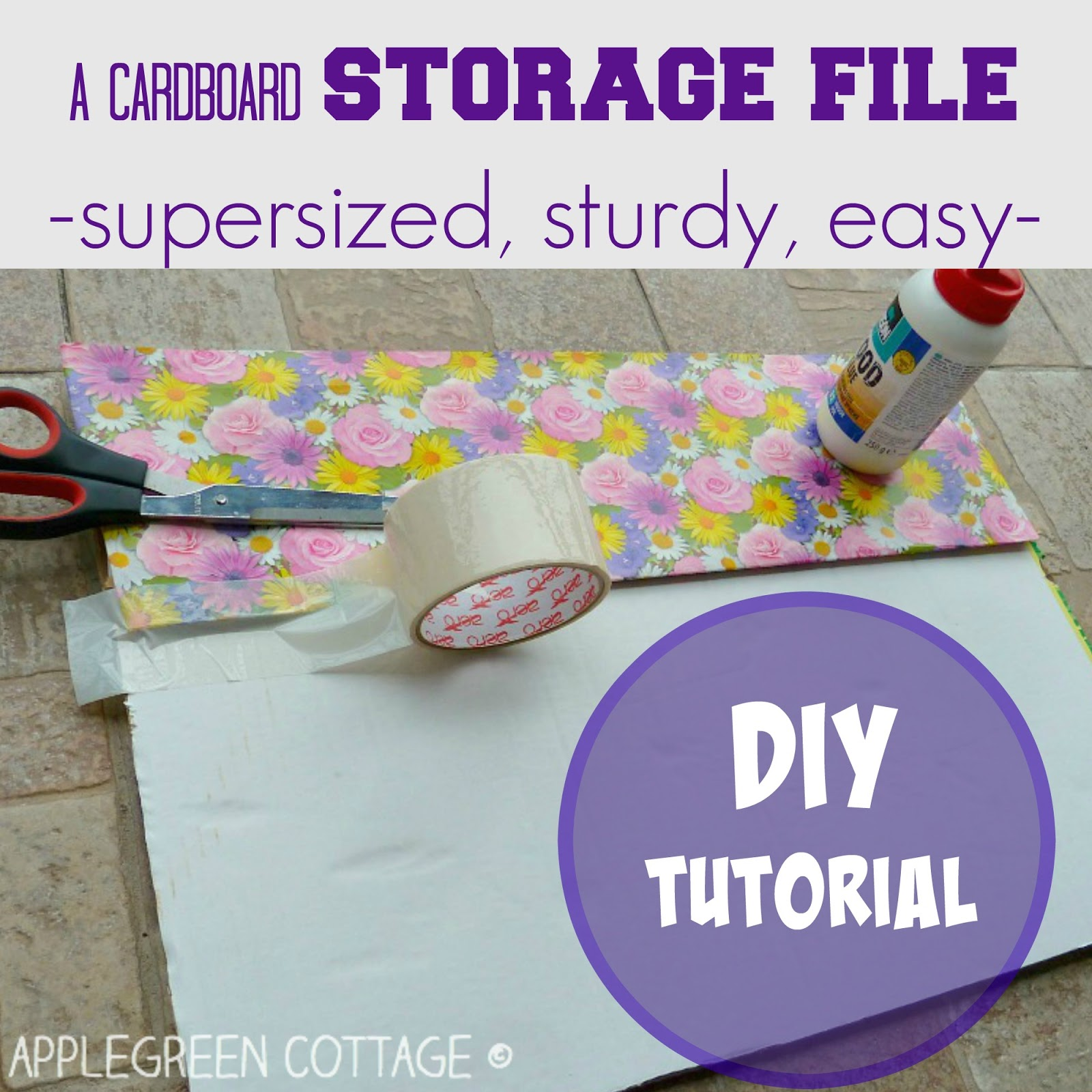 Easy Sewing Pattern Storage TUTORIAL