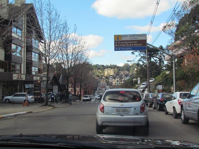 Avenida das Hortências em Gramado/RS