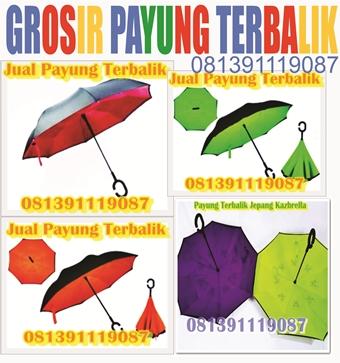 payung terbalik, Kazbrella, Inverted Umbrela,   jual payung terbalik, harga payung terbalik, payung terbalik murah, grosir payung terbalik, jual payung kazbrella murah