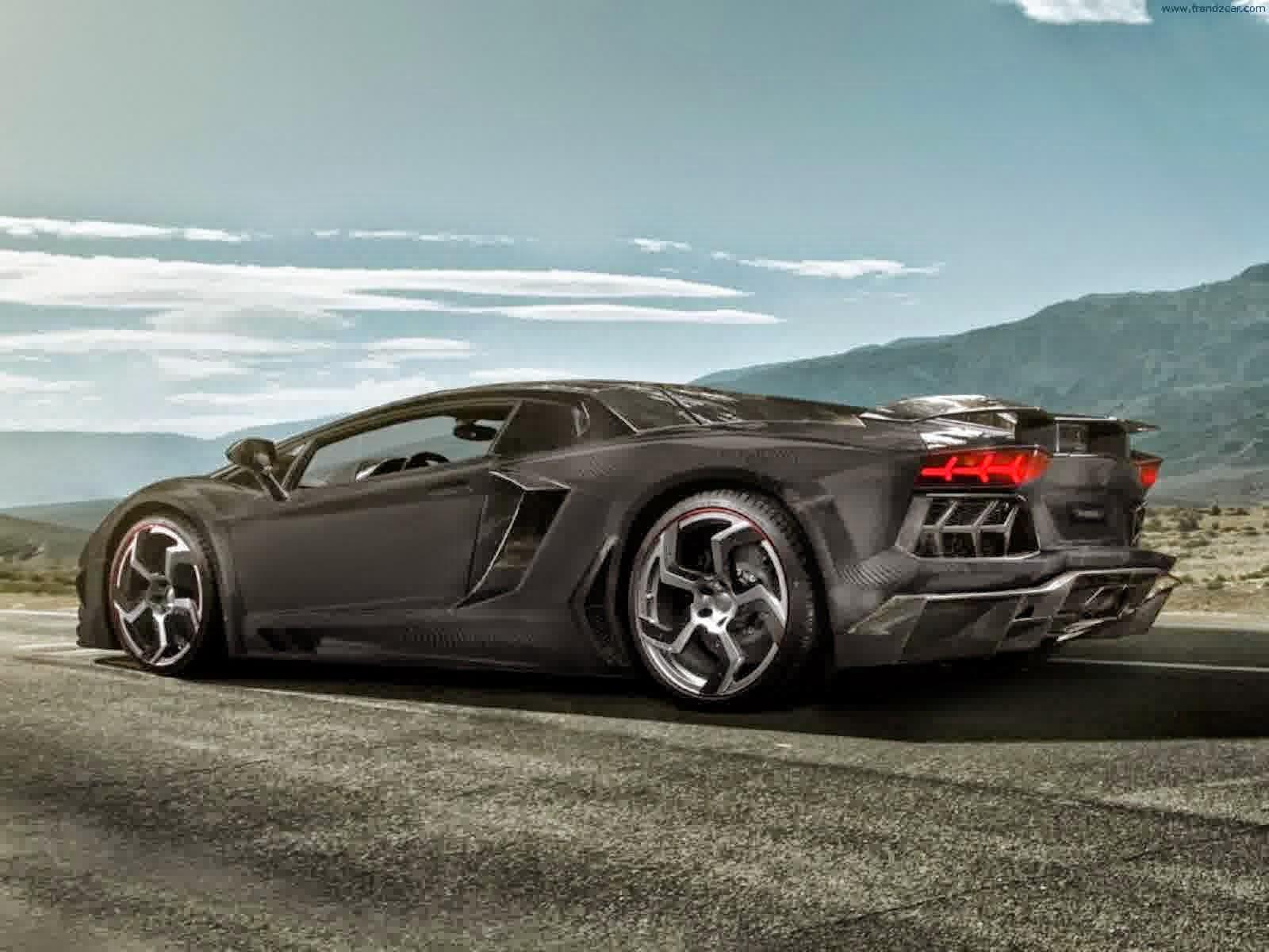 3 Black Lamborghini Aventador Wallpapers On The Mountain