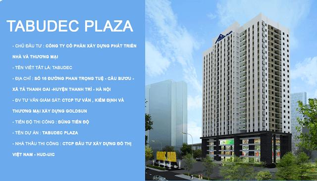 Hình ảnh dự án chung cư Tabudec Plaza
