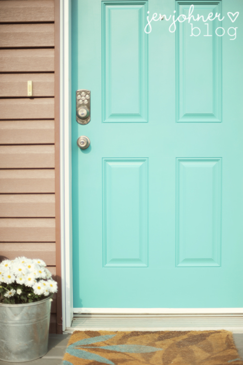 Turquoise Paint Color For Front Door