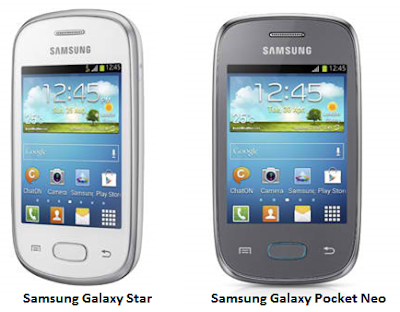 Samsung Galaxy Star and Pocket Neo- new budget phones