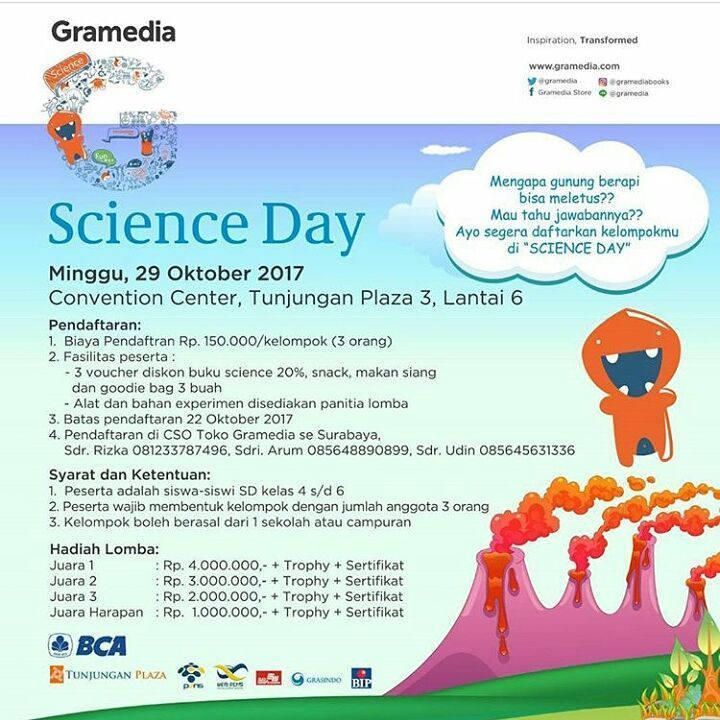 Lomba Gramedia Science Day 2017