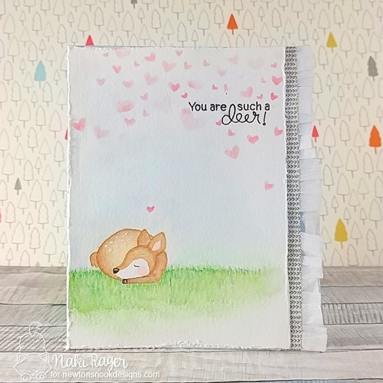 You are Such a Deer Card by Naki Rager | Deer Friend Stamp Set by Newton's Nook Designs #newtonsnook #handmade