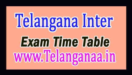 Telangana Inter 2nd Year Exam Time Table 2017