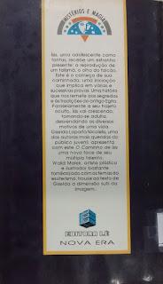O caminho de Ísis. Giselda Laporta Nicolelis, Editora Lê. Coleção Mistérios e Magia. Nova Era.  Marcos Lourenço. Contracapa de Livro. 1992.