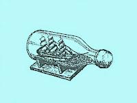 Так выглядит изготовленный своими руками парусник в Бутылке