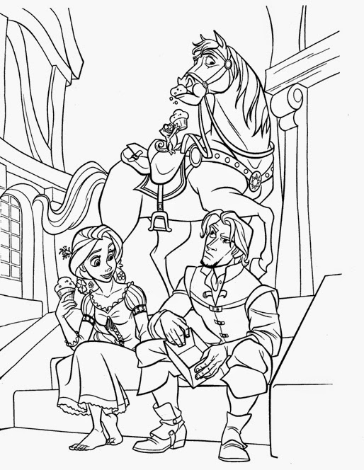 Tangled coloring pages maximus