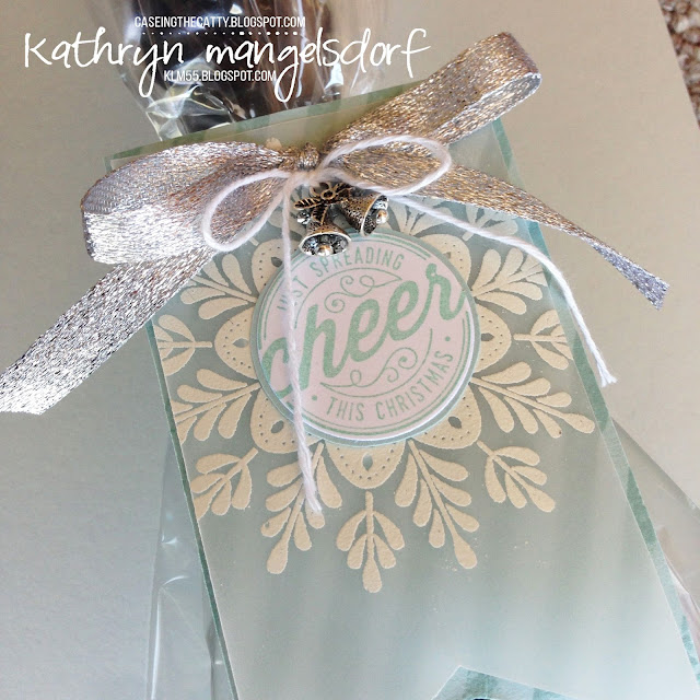 Stampin' Up! Frosted Medallions, Christmas Tags, Bottle Tags created by Kathryn Mangelsdorf