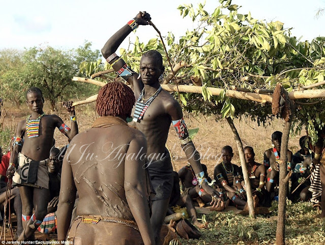 See the Country Where Women are Flogged Mercilessly in Order to Show That They Love Their Men (Photos)