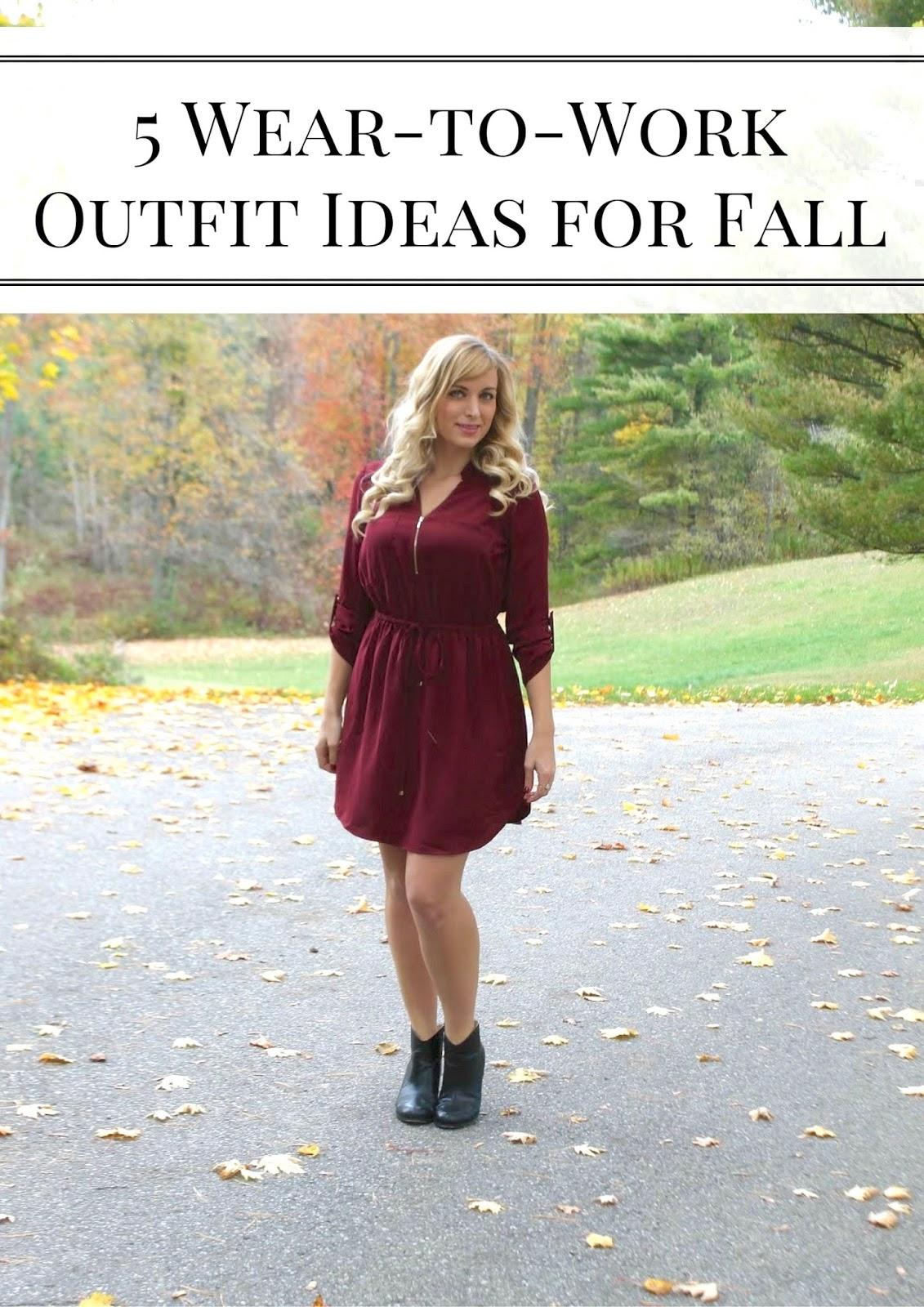 fall office appropriate outfit ideas