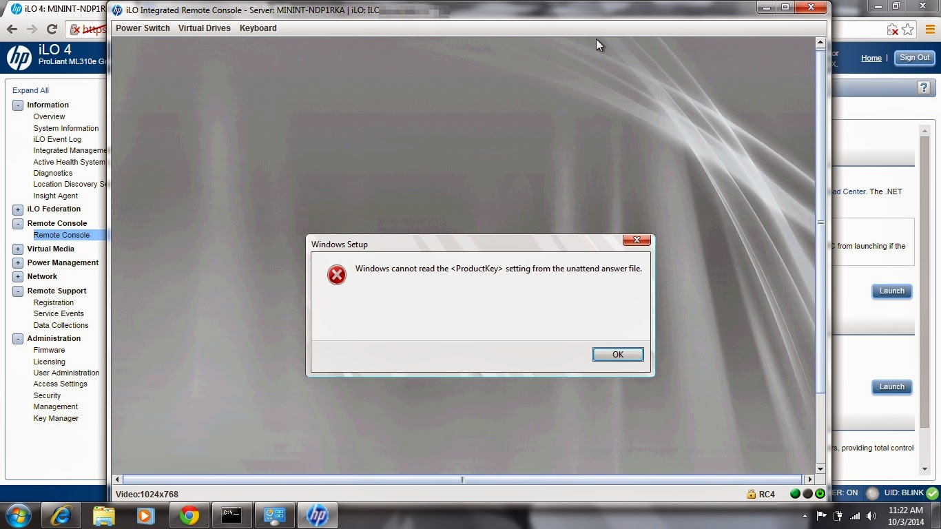 Intelligent Provisioning 1 60 breaks 2008 R2 install (will not