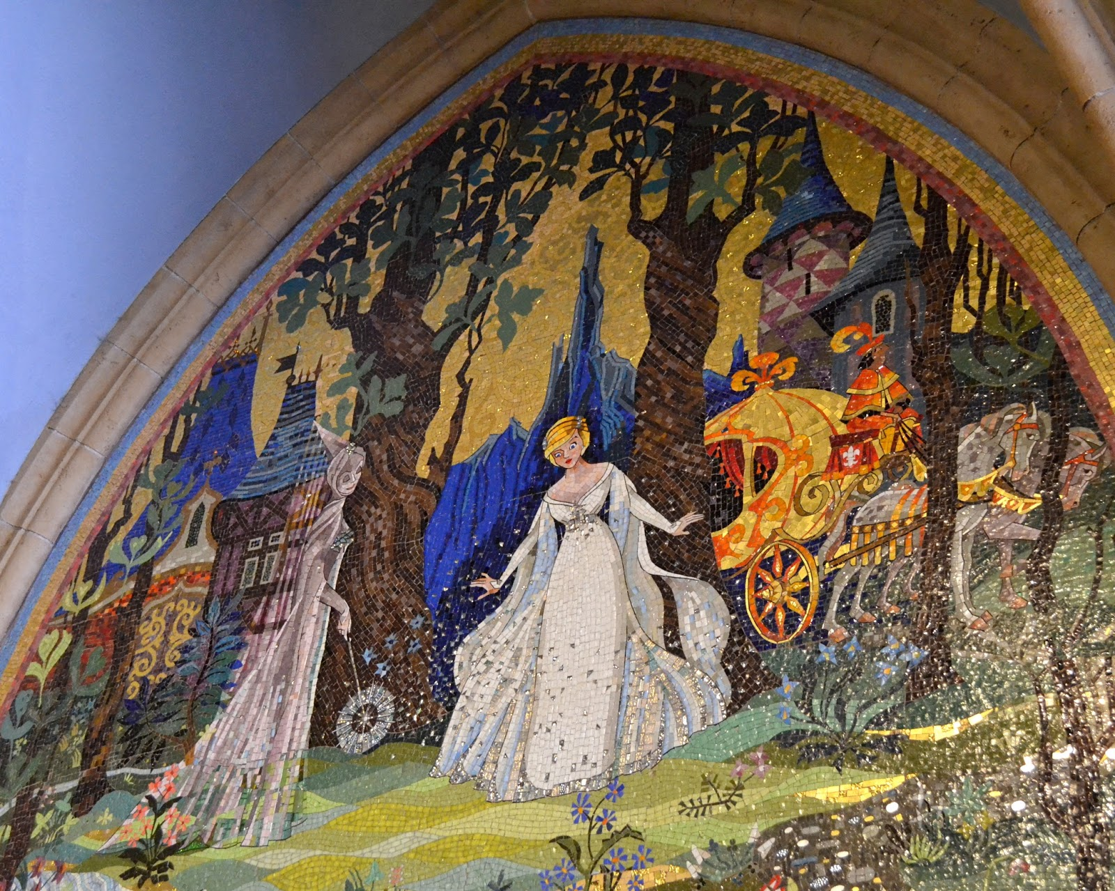My pet arts cinderella for Cinderella castle mural